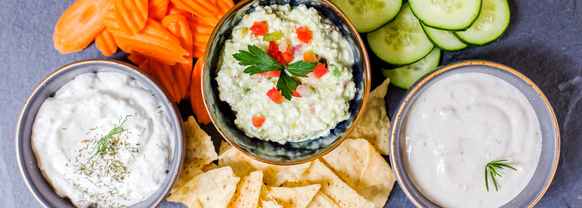 Lactose-Free Cottage Cheese Dips