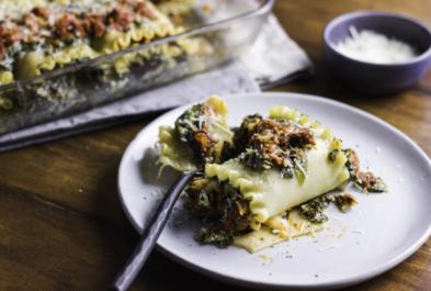 Spinach Lasagna Bolognese