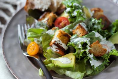 Farmer's Market Salad with Kefir Ranch Dressing