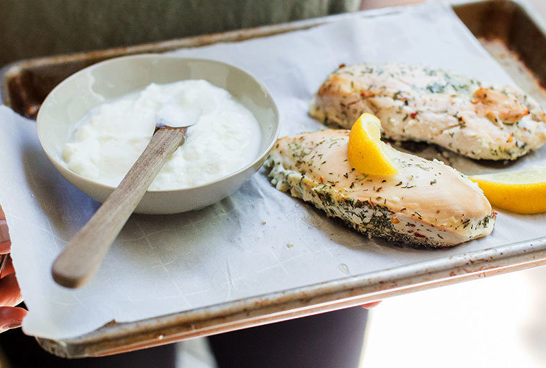 Lemon, Dill & Yogurt Marinated Chicken