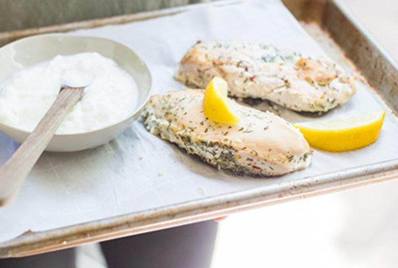 Lemon, Dill & Yogurt Marinated Chicken