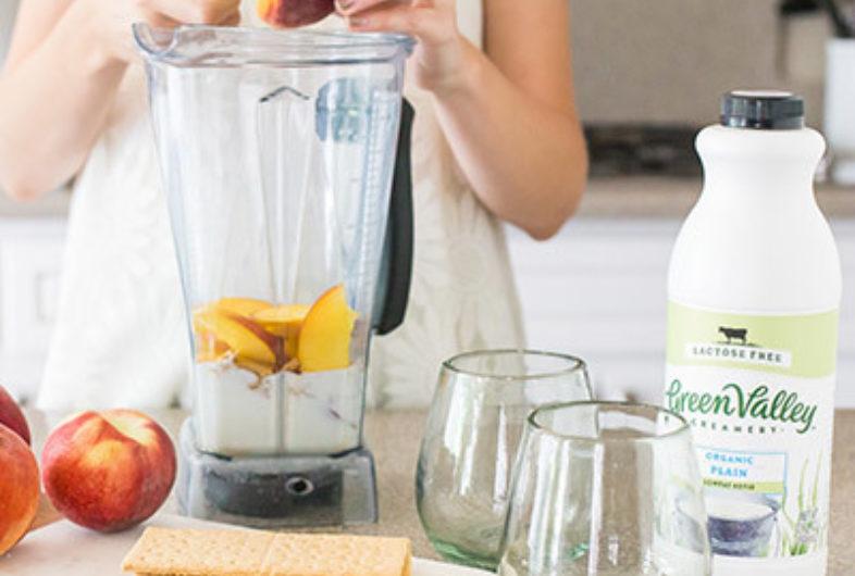 Lactose Free Peaches & Cream Milkshake