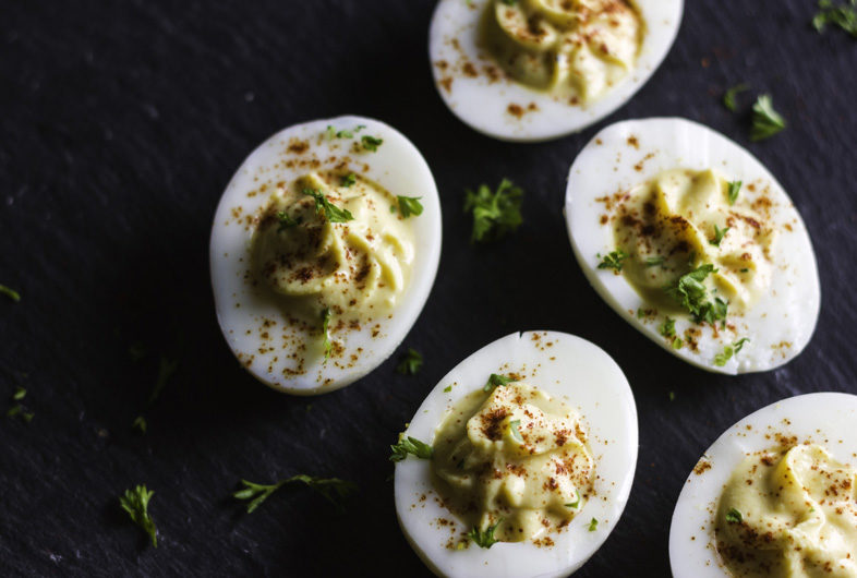 Yogurt Deviled Eggs