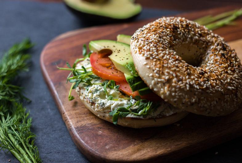 Ultimate Veggie Bagel Sandwich