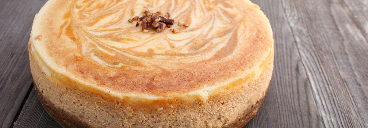 Recipes Deluxe Pumpkin Swirl Cheesecake Banner 1200X400Px