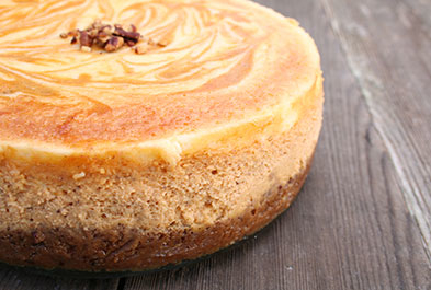 Deluxe Pumpkin Swirl Cheesecake