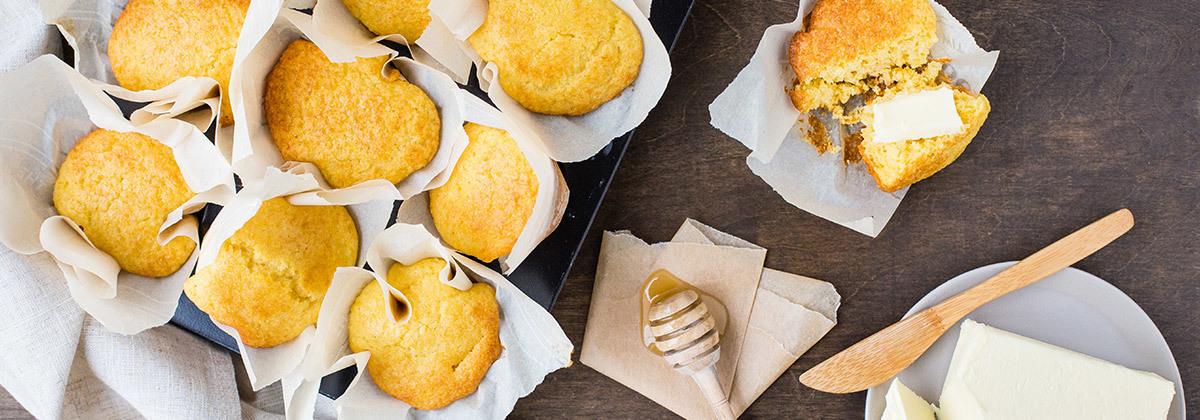 Cornbread Muffins Banner