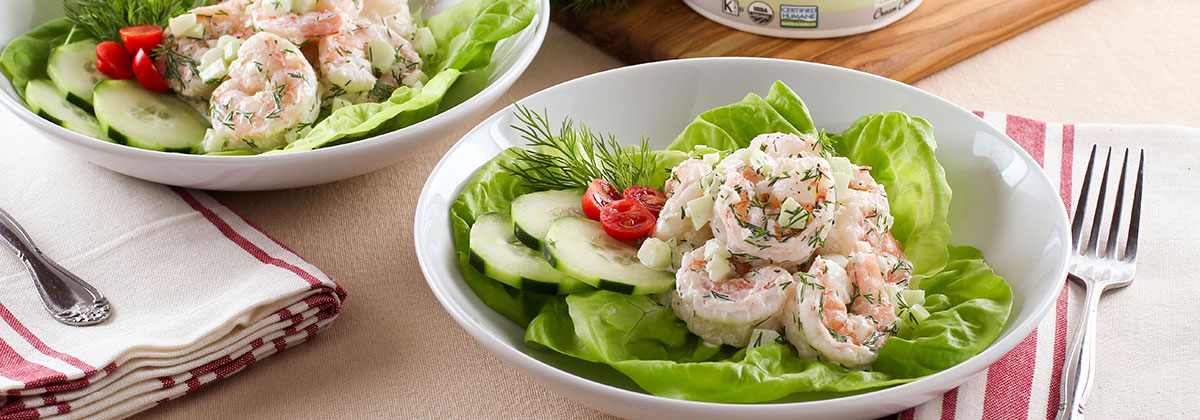 Recipes Salads Banner Shrimp Salad With Cucumber And Dill 1200X420Px