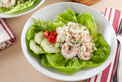 Shrimp Salad with Cucumber and Dill