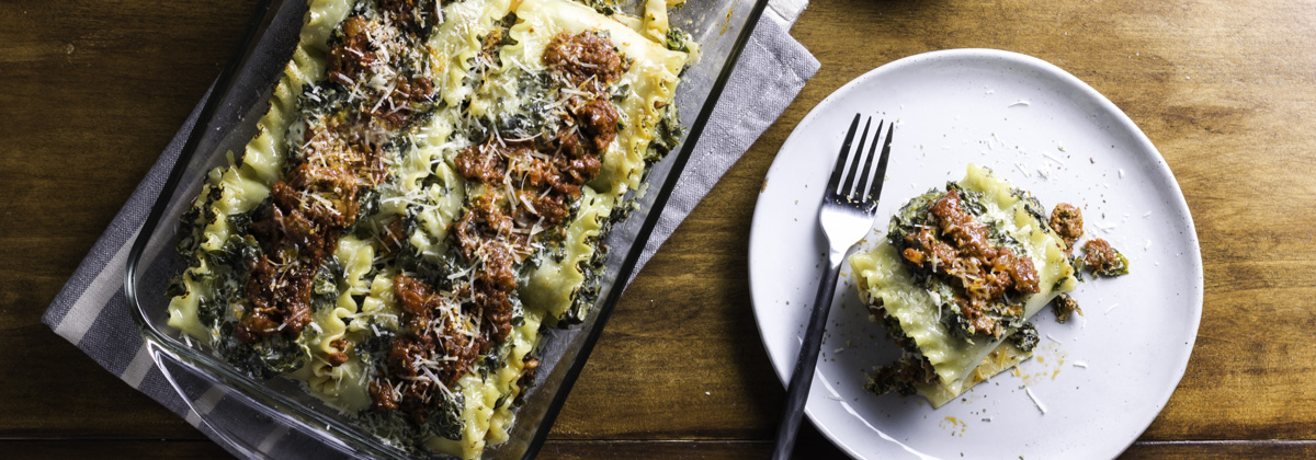 Recipes Entrees Banner Spinach Lasagna