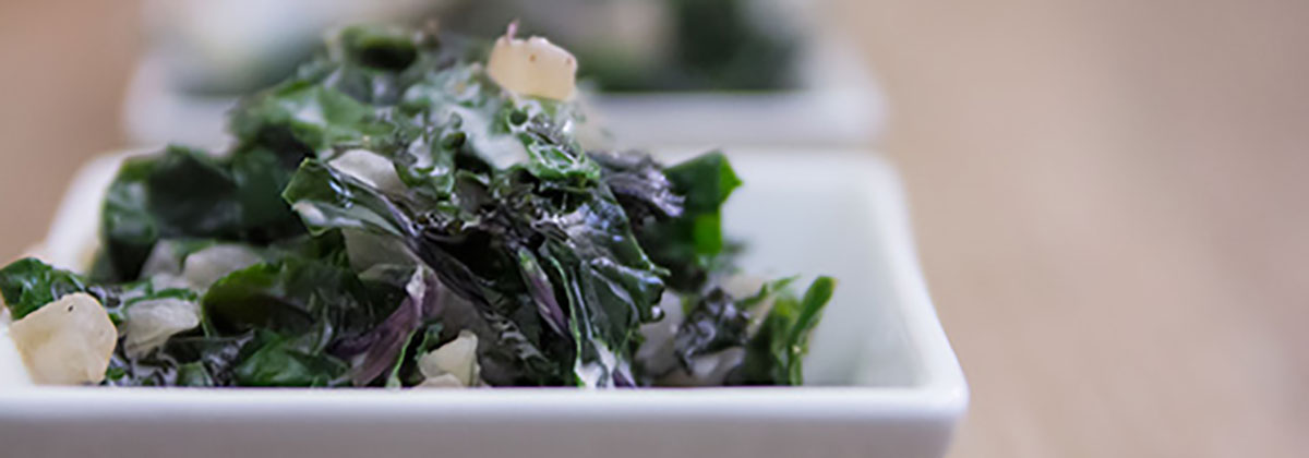Recipes Salads Banner Super Simple Creamed Kale 1200X420Px