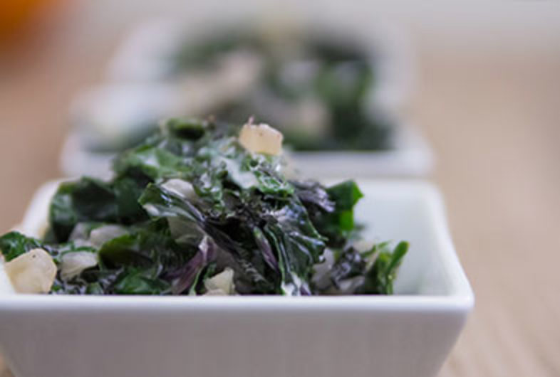 Super Simple Creamed Kale