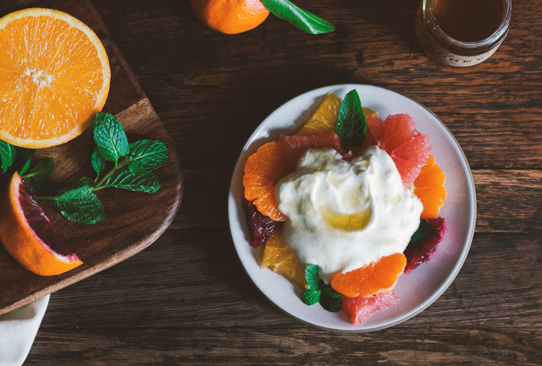 Yogurt with Citrus & Honey Dressing
