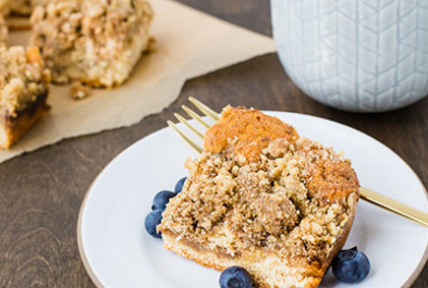 Cinnamon Kefir Coffee Cake