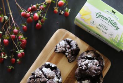 Double Chocolate Cracked Cookies