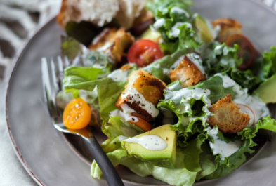 Farmer's Market Salad with Kefir Ranch Dressing