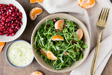 Winter Salad with Lemon Yogurt Dressing