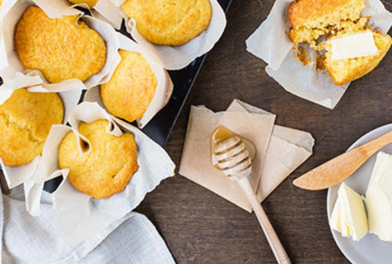 Kefir Cornbread Muffins
