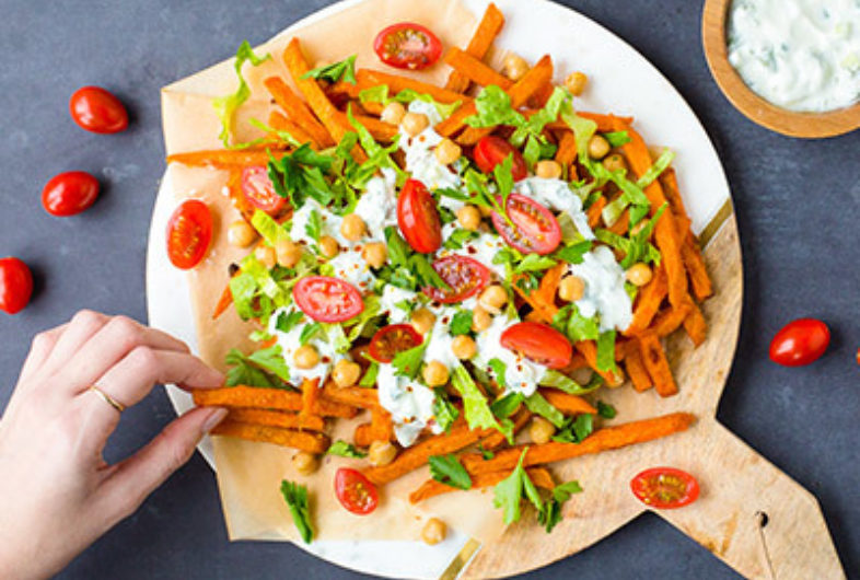 Lactose Free Loaded Mediterranean Fries