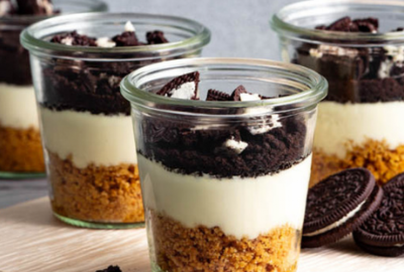 No Bake Cookies & Cream Cheesecake Jars