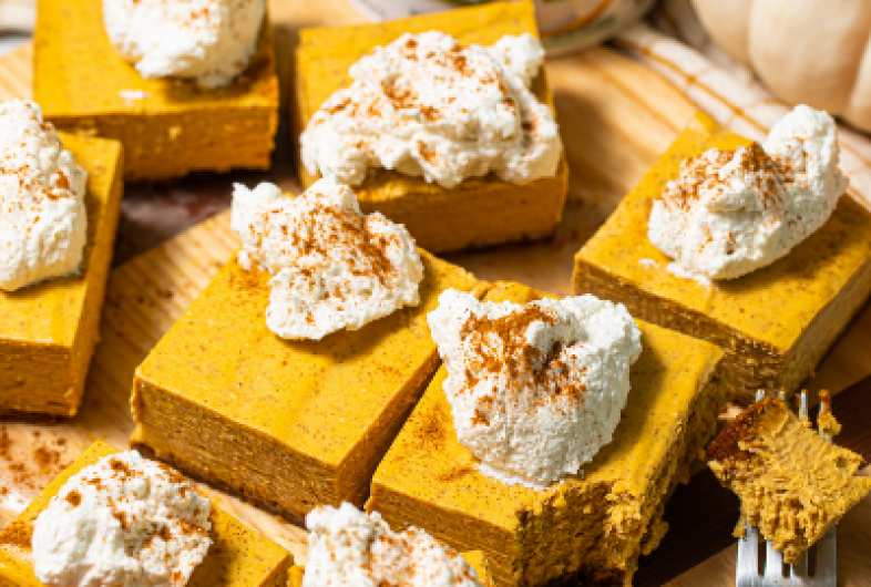 Pumpkin Chai Cheesecake Bars