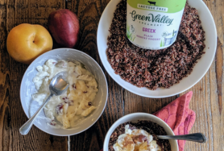 Pear Quinoa Yogurt Bowl