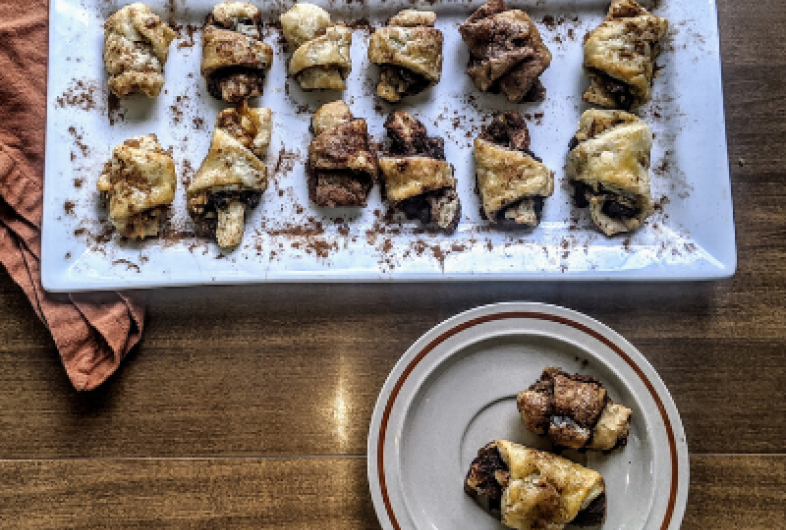 Chocolate Rugelach Crescent Cookies