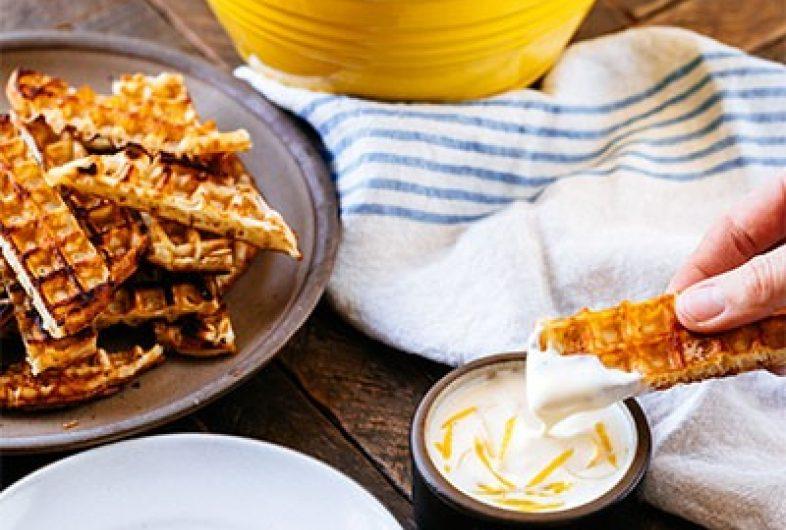 Lemony Yogurt Waffle Dip