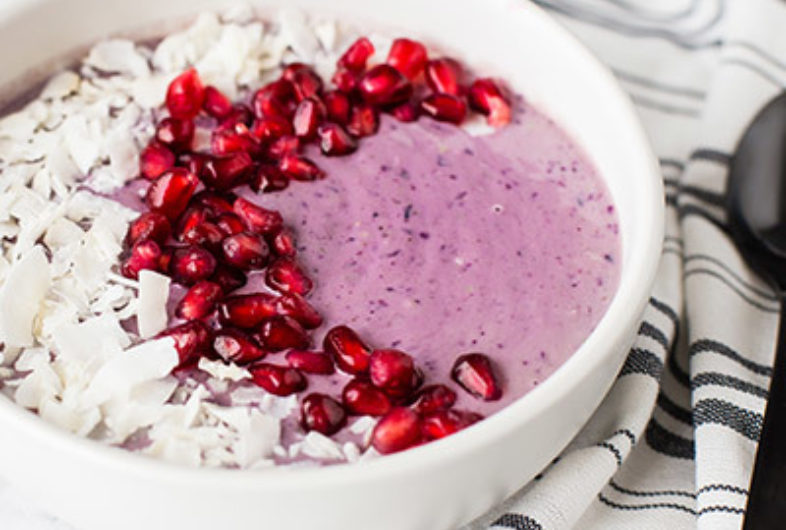Blueberry Coconut Kefir Smoothie