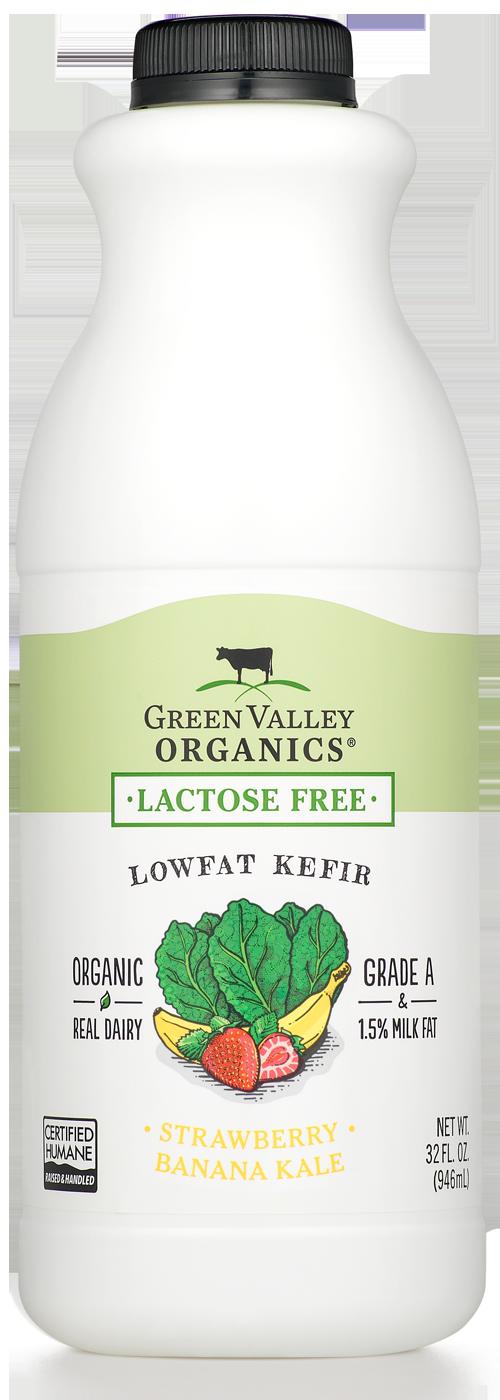 Lactose-Free Strawberry Banana Kale Kefir