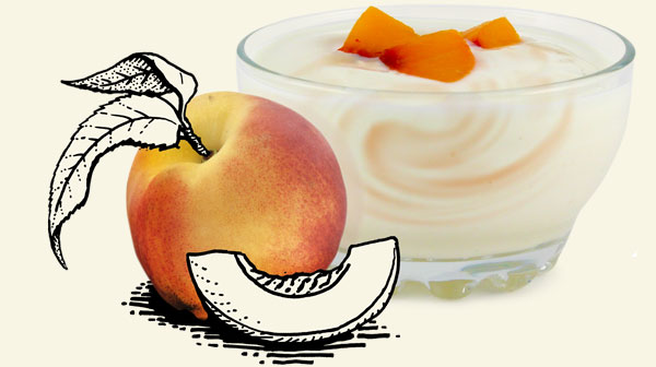 Products Yogurt Peach Illustration