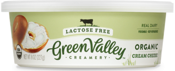 Green Valley Creamery Lactose free cream cheese 500x205