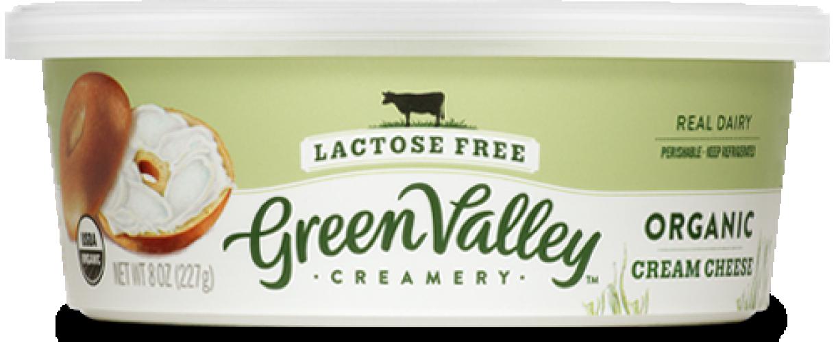 Green Valley Creamery Lactose free cream cheese 500x205