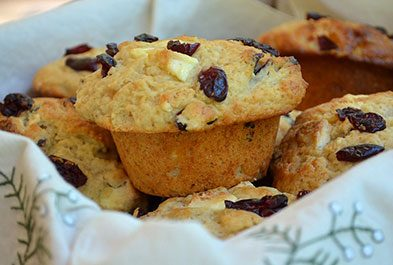 Big Beautiful Muffins with Cranberries and Chocolate