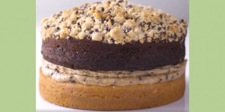 Chocolate Chip Cookie Dough Crumb Cake Header