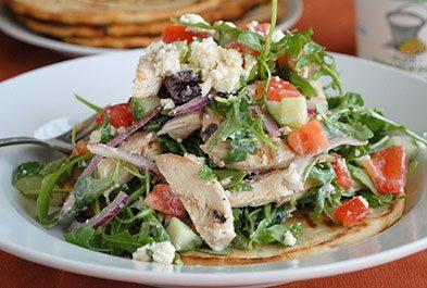 Grilled Chicken Souvlaki Salad