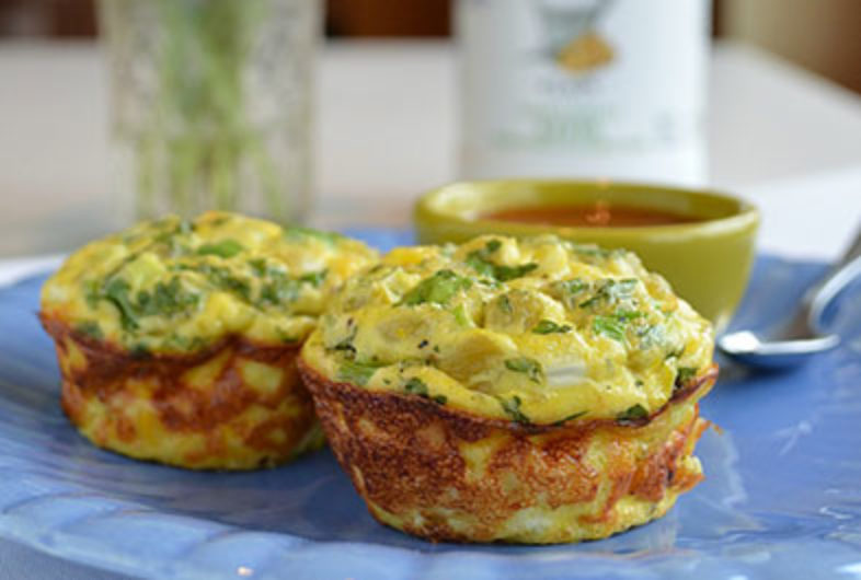 On-the-go Egg Muffins with Chiles and Corn