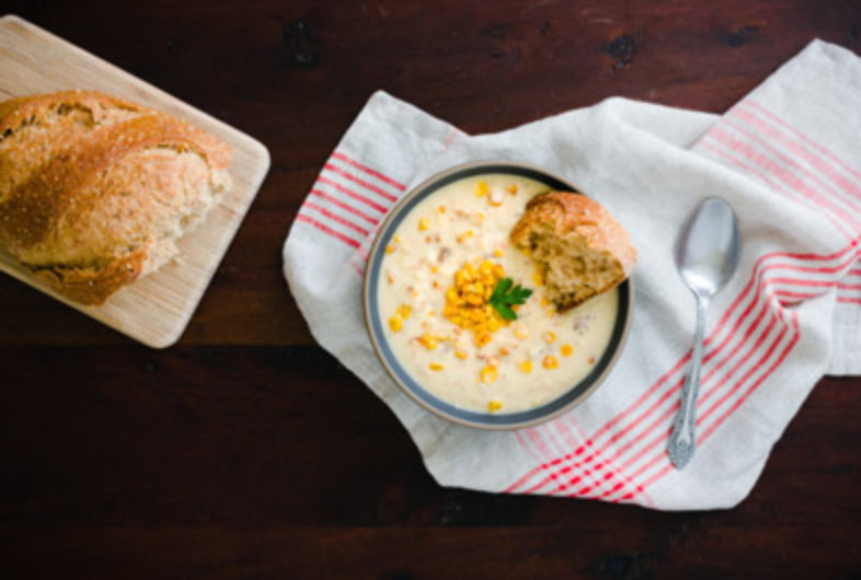 Roasted Sweet Corn Chowder
