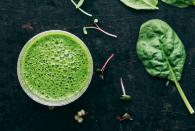 Spinach Mango Kefir Smoothie