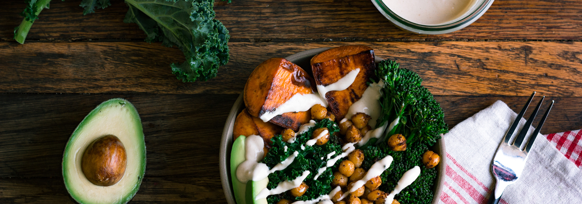 Recipes Entrees Banner Sweet Potato Yogurt Tahini