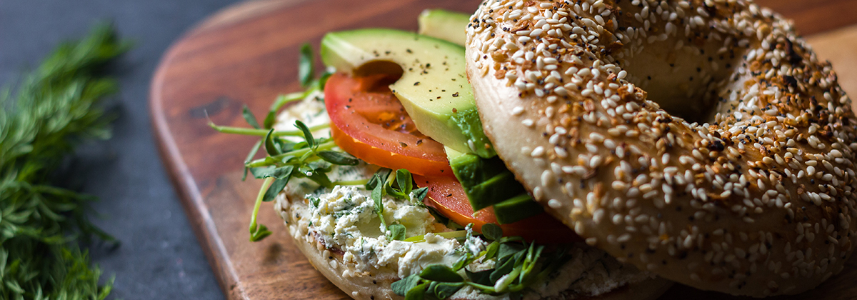 Recipes Veggie Bagel Sandwich Banner